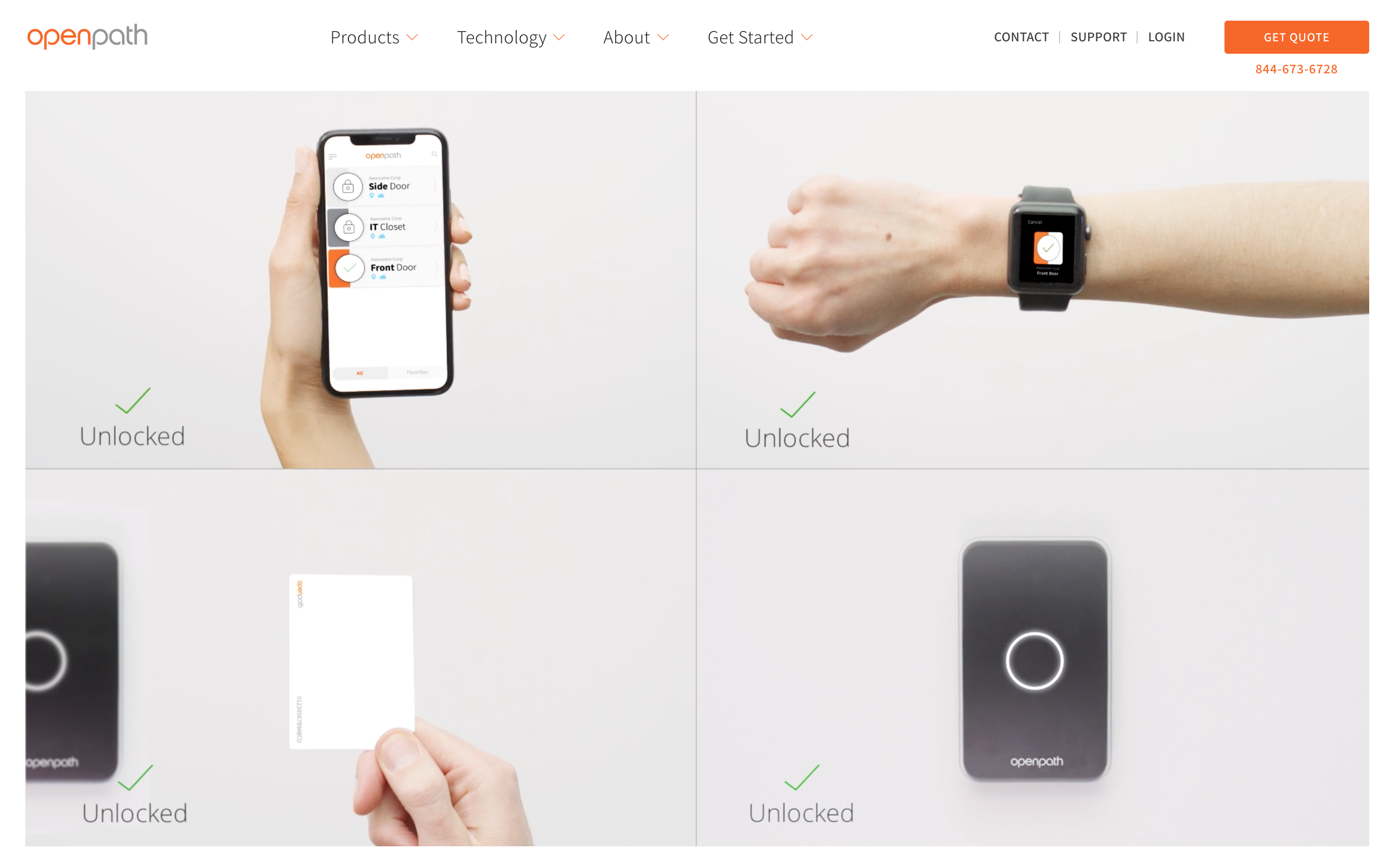 Quick Access Control Methods: Mobile App & Touch Entry
