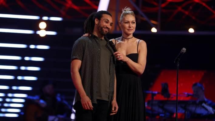 Doug Sure with Emma Willis The Voice UK
