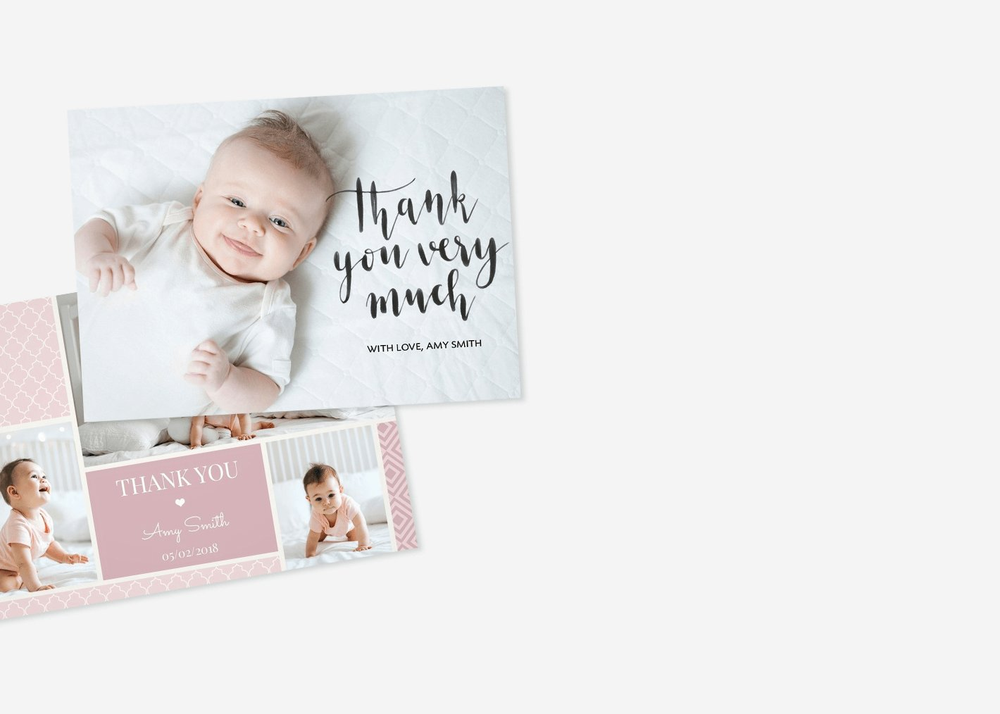 Personalised photo thank you cards uk 48hr delivery optimalprint uk baby thank you cards stopboris Image collections