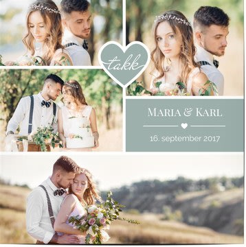 Takkekort til bryllup