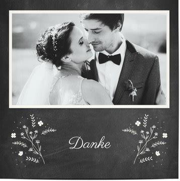 Danksagungskarten zur Hochzeit