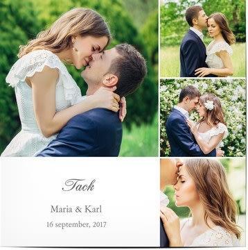 Tackkort för bröllop
