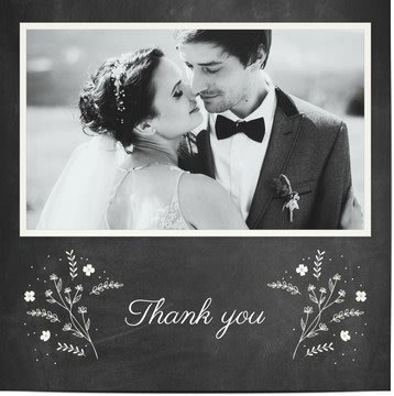 Svatební děkovné kartičky