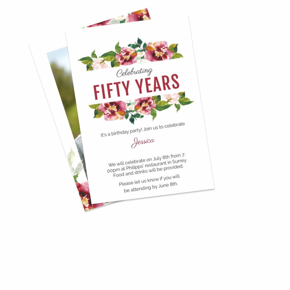 50 Off Birthday Invitations Personalised By You Create Your Own