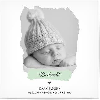 Bedankkaartjes voor baby's