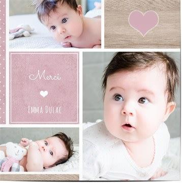 Cartes de remerciements de bébé