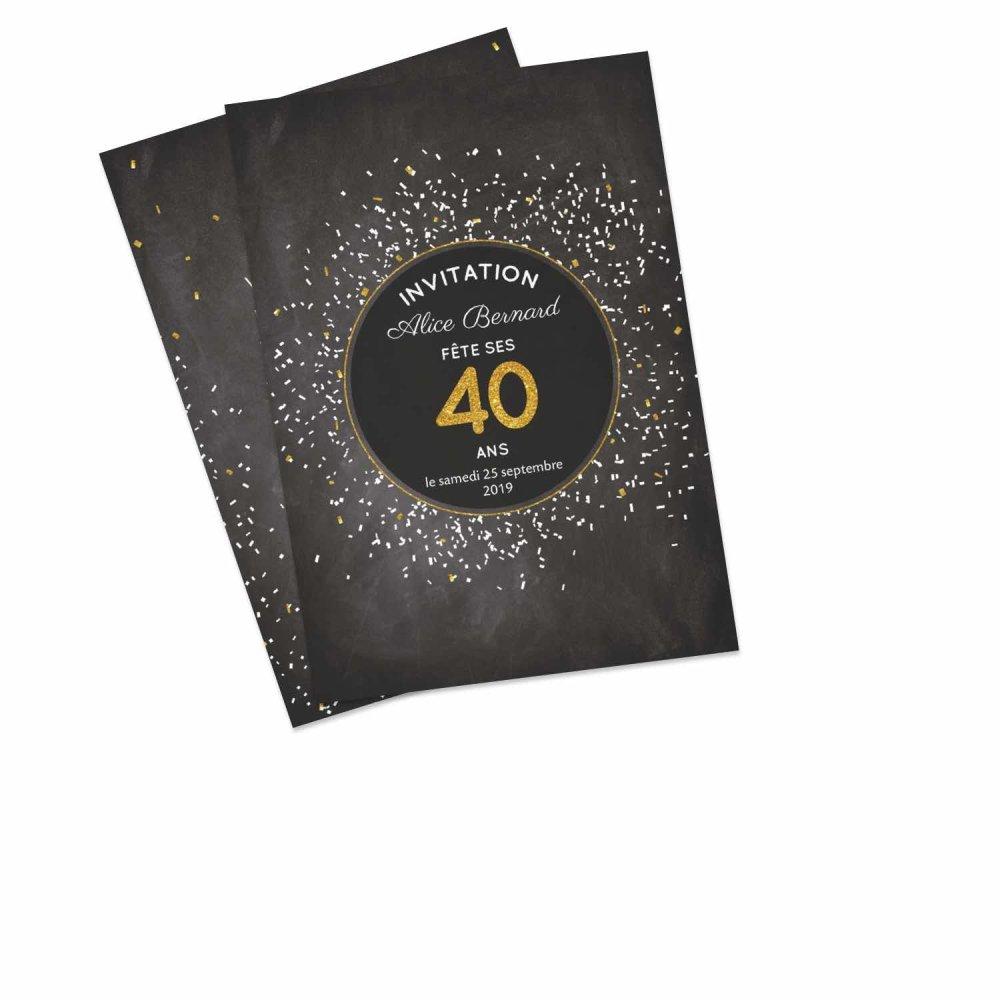 Fantastique Carte d'invitation anniversaire - Faire-part Photo | Optimalprint KB-36