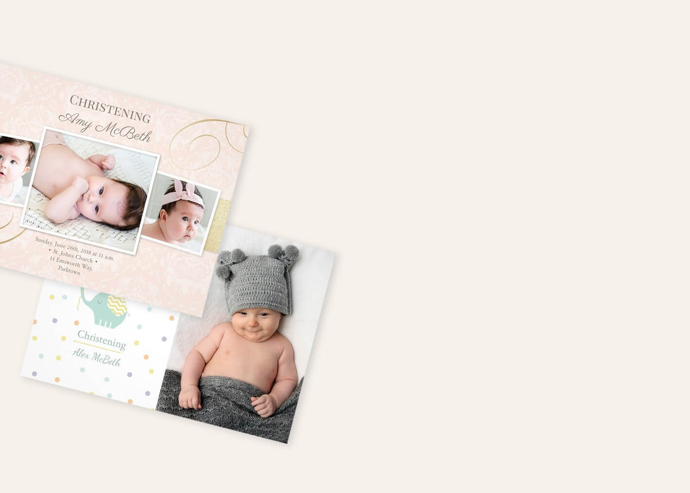 Christening Invitations | Christening Cards | Personalised Invites ...