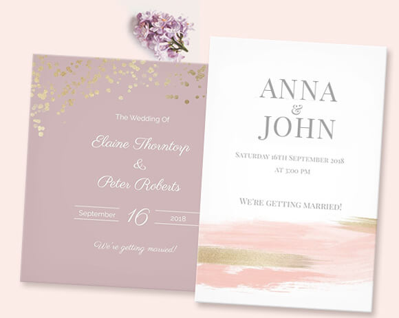 Artistic wedding invitations created by you at optimalprint us view all stopboris Gallery
