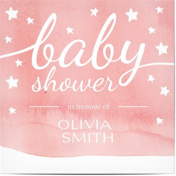 Invitations shower bébé