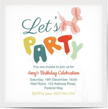 Birthday invitations personalised by you create your own birthday kids stopboris Choice Image