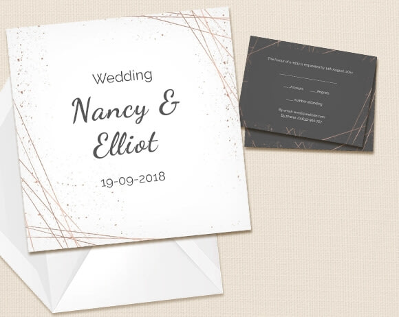 Artistic wedding invitations created by you at optimalprint us modern stopboris Gallery