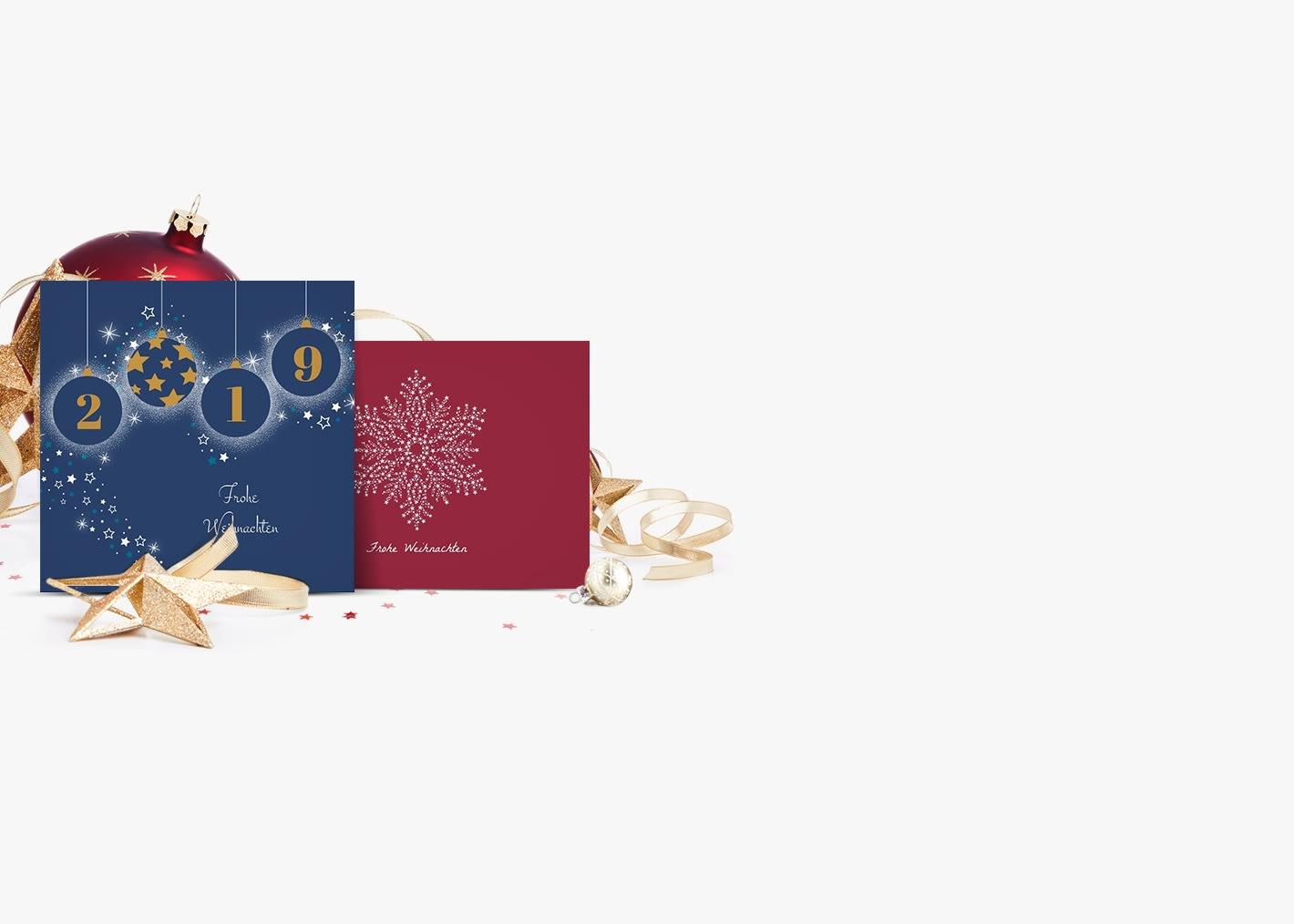 Neue Kollektion von geschäftlichen Weihnachtskarten