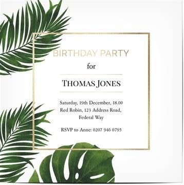 Uitnodigingen Feest
