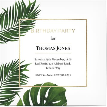 Convites para festas