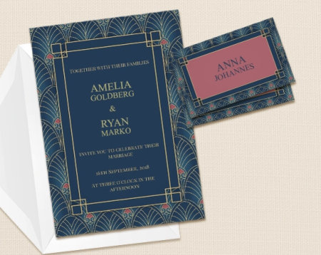 Wedding invitations uk photo wedding invites optimalprint uk vintage stopboris Choice Image