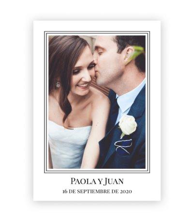Tarjetas de agradecimiento boda