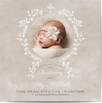 Zaproszenia na chrzciny