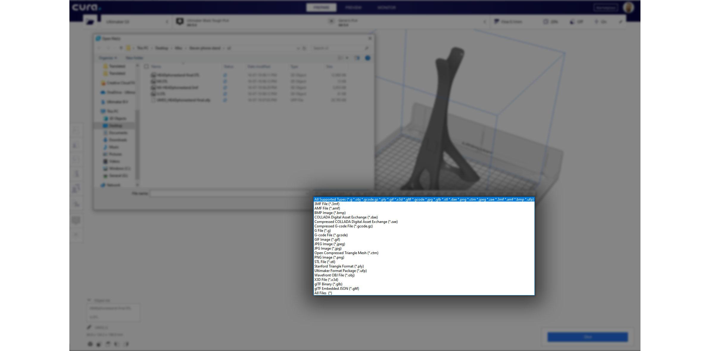 Neue native Import-Dateiformate in Cura