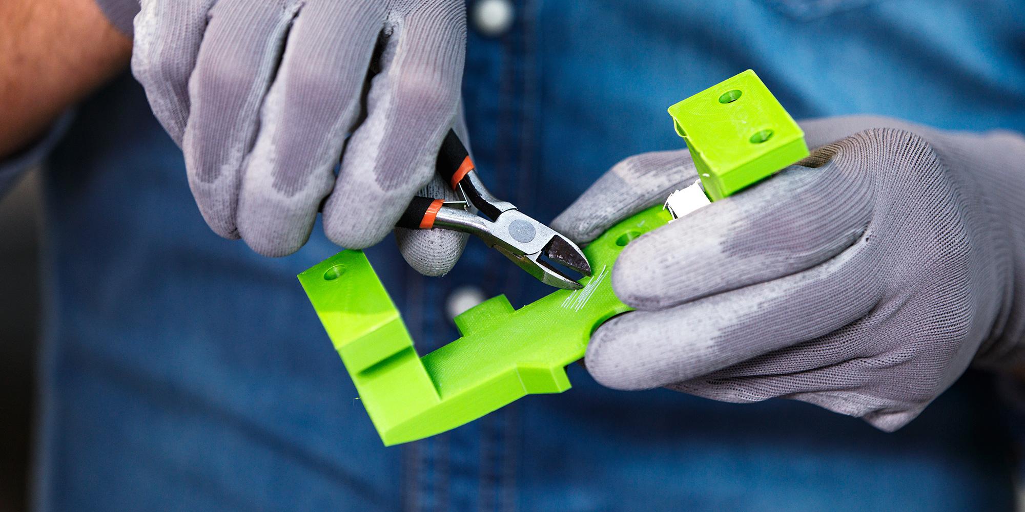 Ultimaker Breakaway 3 step removal peel