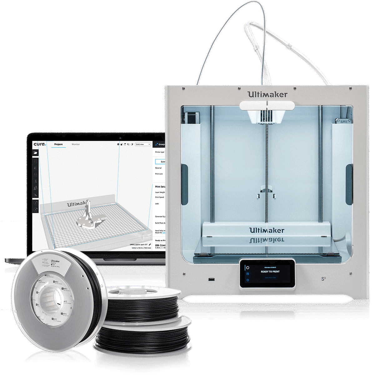 Ultimaker 3D Printer with material and software
