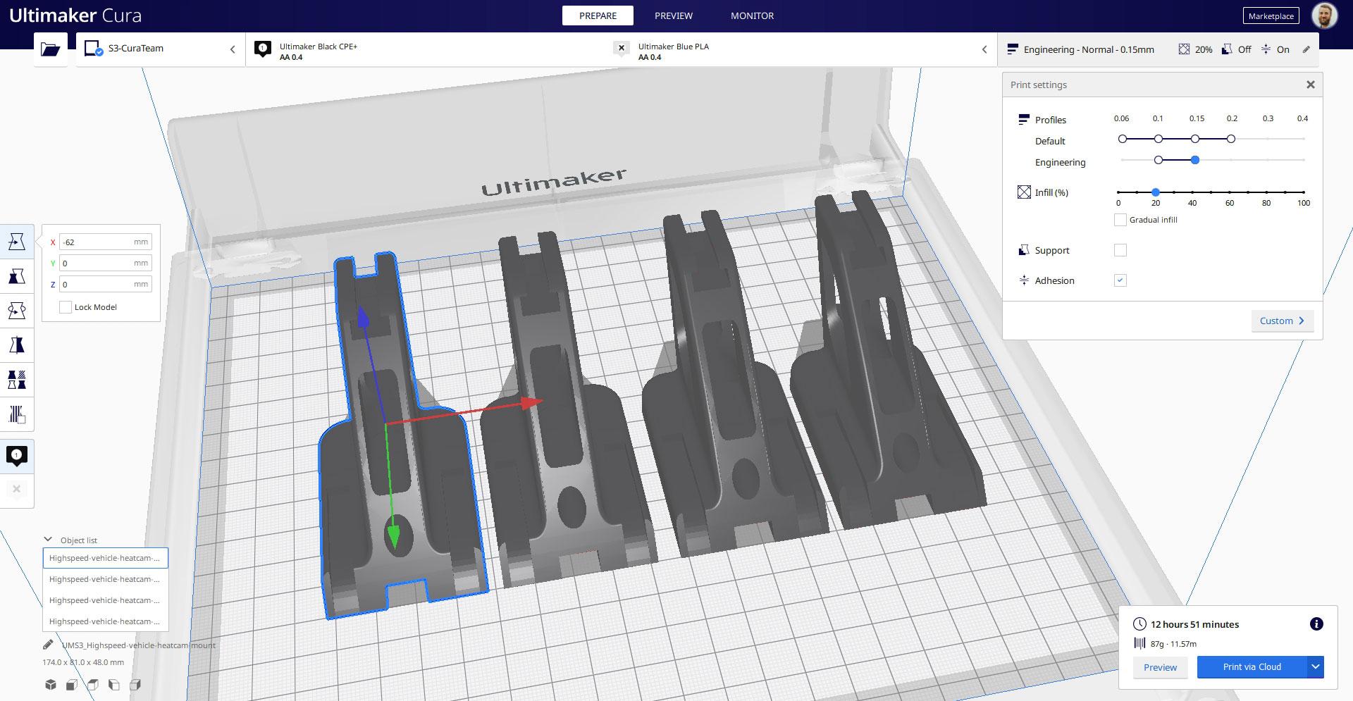 Mit CPE+ vorbereitete Objekte mit einem Intent-Profil
