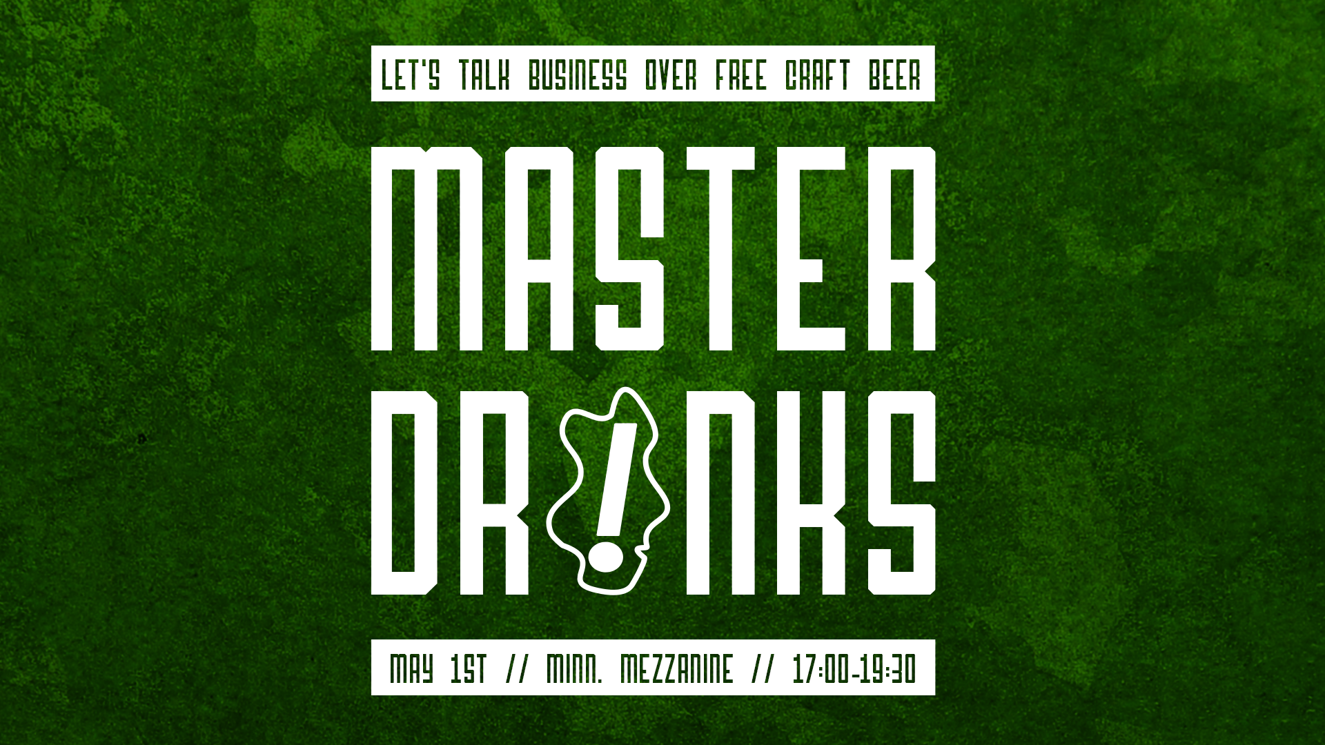 Front page image of news article: Second Master Drinks!