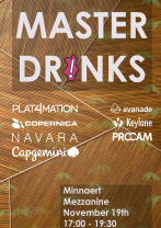 Front page image of news article: Master drinks