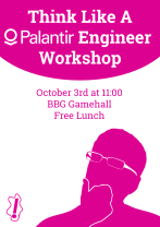 Front page image of news article: Think like a Palantir Engineer interactive event