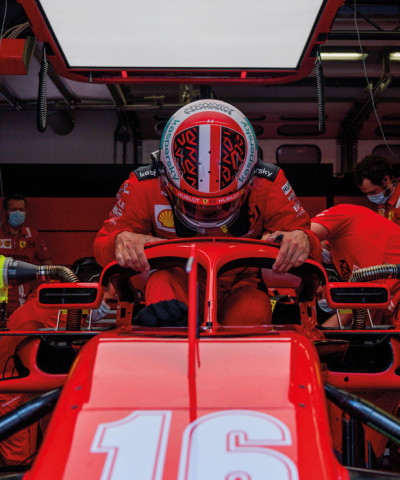 Charles Leclerc's Ferrari n.16 during  test session at the Mugello Circuit in June 2020. photo courtesy Ferrari and Formula 1®