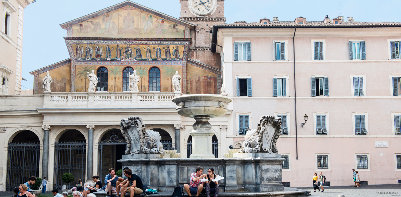 Fountain of Santa Maria in Trastevere