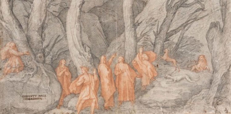 Divine Comedy - Uffizi Gallery - Inferno Dark Forest