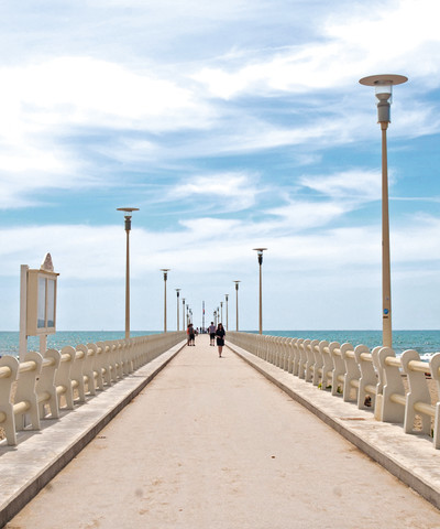 the famous pier of Forte dei Marmi