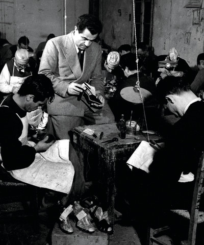 Salvatore Ferragamo in his production department