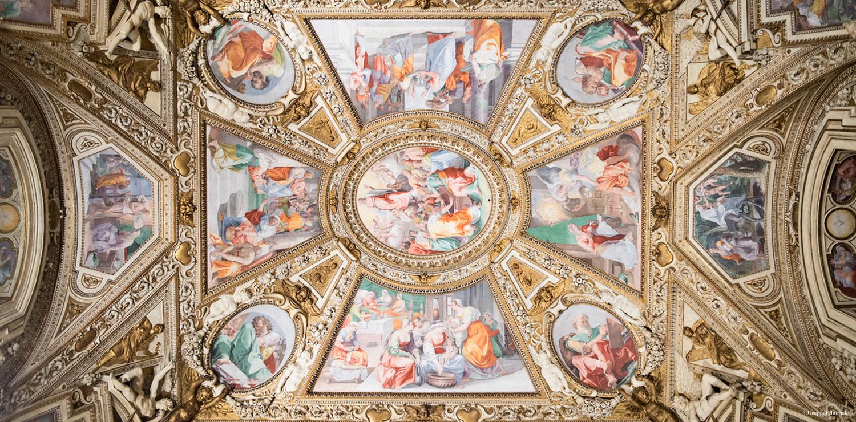 Assumption of the Virgin, Domenichino, Ceiling of Church of Santa Maria in Trastevere