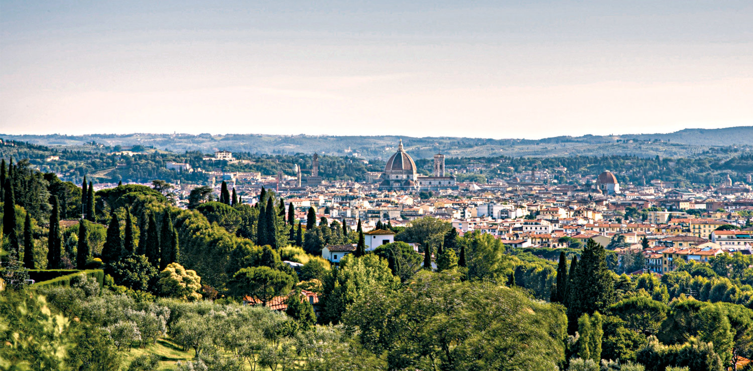 A view of Florence from Fiesole hills