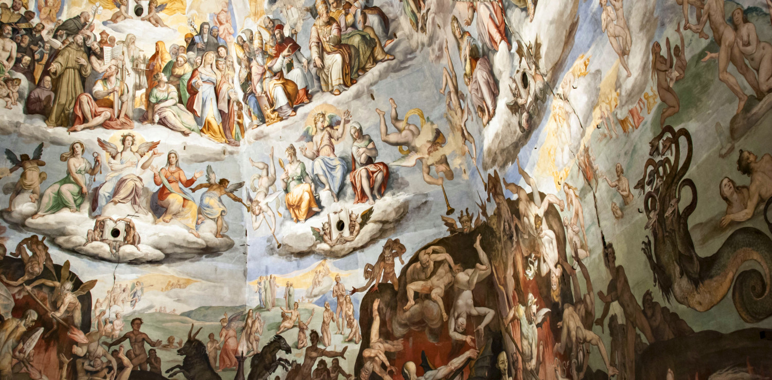 The frescoed interior of the Florence Dome