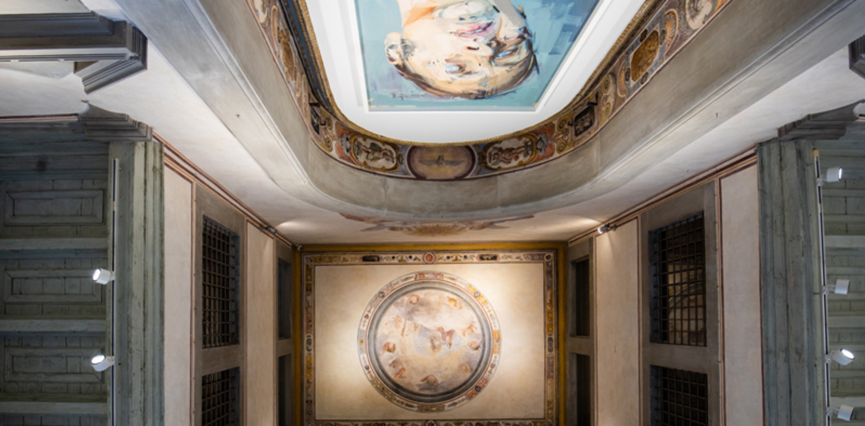 Ritratto di Rosetta II, posto sopra l'altare, all'interno dell'ex chiesa dello Spedale