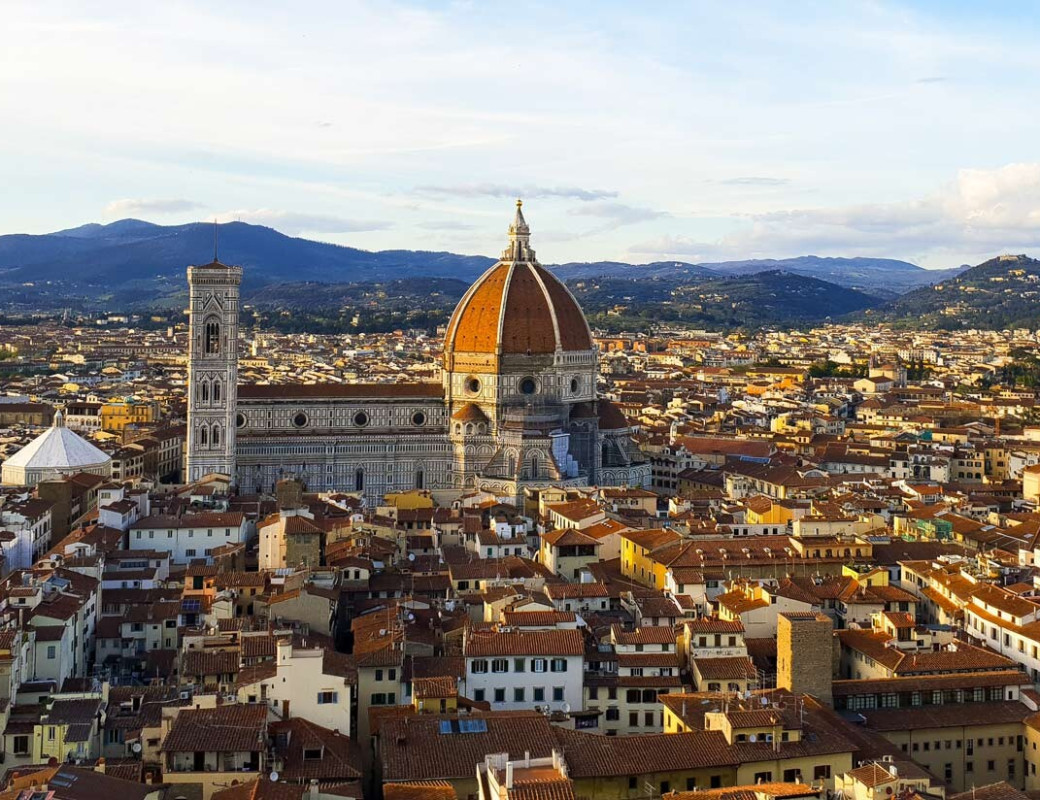Florence and the Duomo seen from above