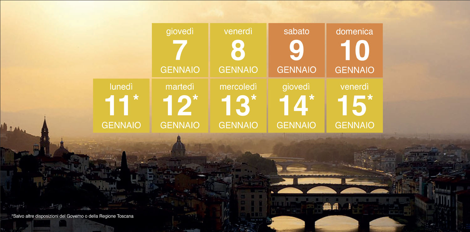 Tuscany in yellow zone from January 7, 2021