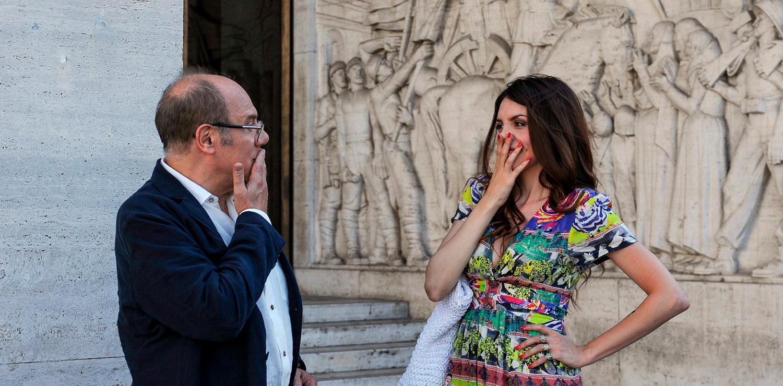 Ilenia Pastorelli with Carlo Verdone