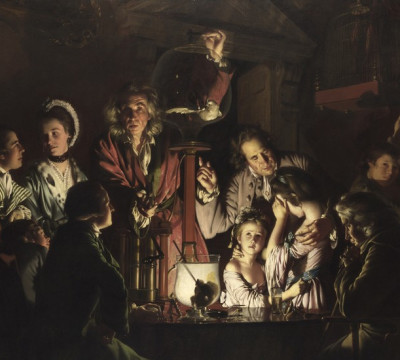 """Experiment"" by Joseph Wright of Derby"