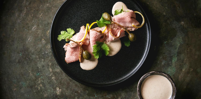 vitello tonnato food photography