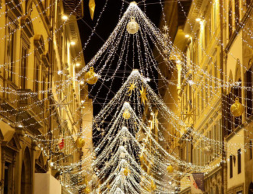 Christmas lights via de' Tornabuoni 2020