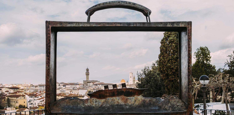 Jean-Michel Folon, Partir, 2002. Giardino delle Rose (Ph GiuliaVezzosi) copia