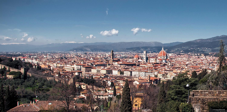 La spettacolare vista di Firenze da San Miniato