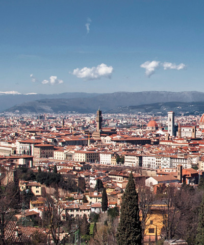 The spectacular view of Florence from San Miniato