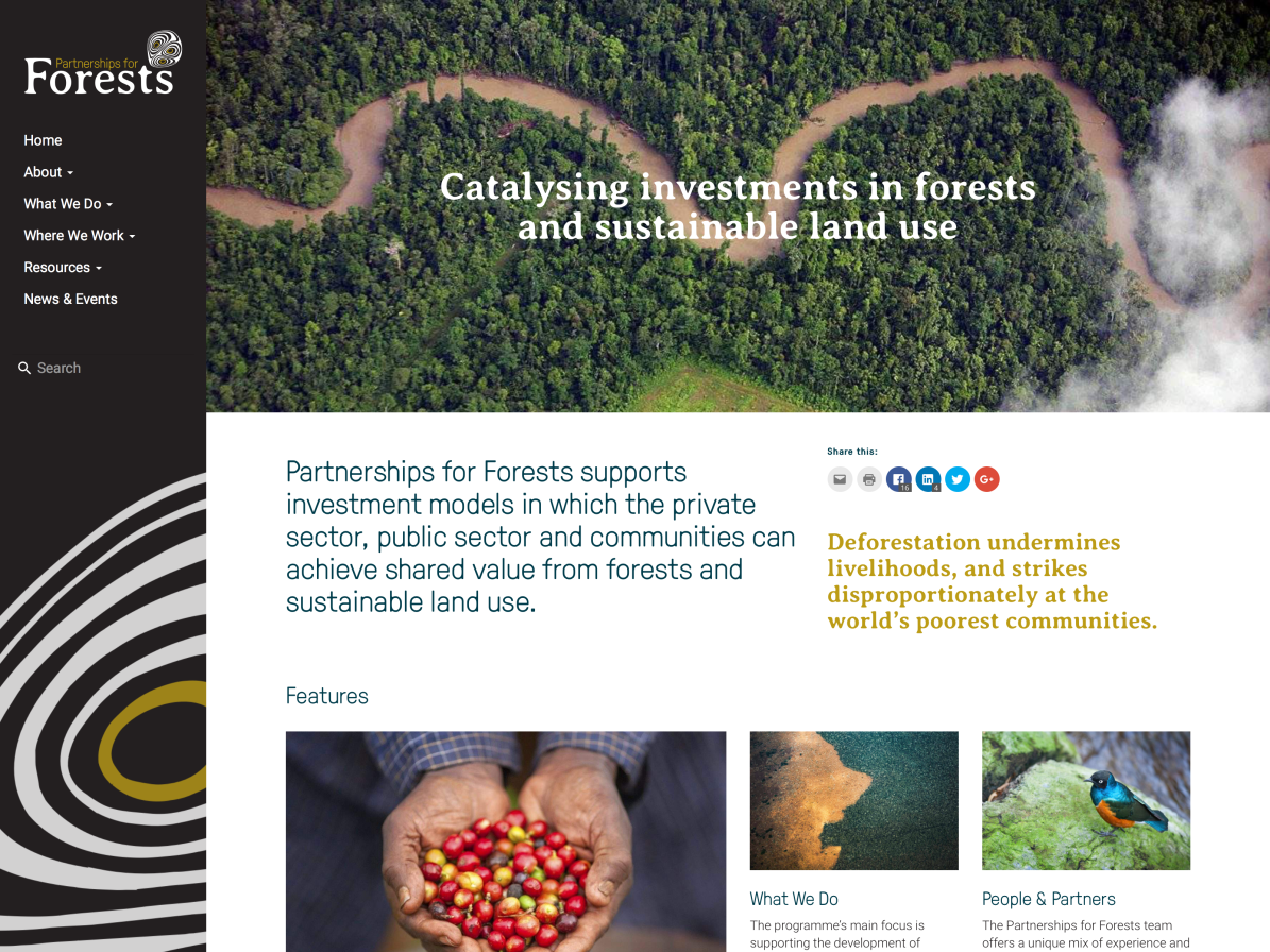 Partnerships for Forests - Homepage