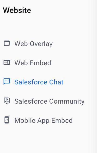 distribution navigation Salesforce Chat