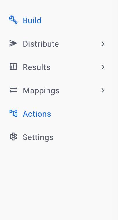 actions navigation